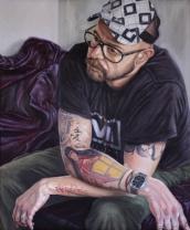 Alex II, El Hombre Ilustrado. Óleo sobre lienzo