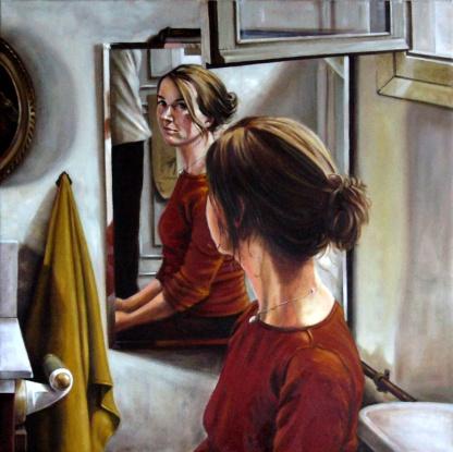 Eva I. Óleo sobre lienzo