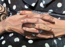 Fernanda II, óleo s/ lienzo 33x24 cm - 2015