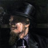 Miguel IV, óleo s/ lienzo 27x27 cm - 2014