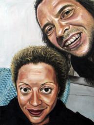 Ana Livia y Mario Óleo sobre papel 31 x 41 cm - 2018