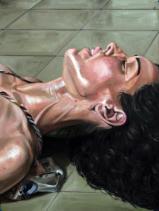 Estudio Juliana II. Óleo sobre papel 31 x 41 cm - 2018