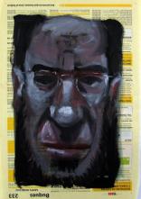 Amigos imaginarios IV. Óleo sobre papel, 27x18 cm