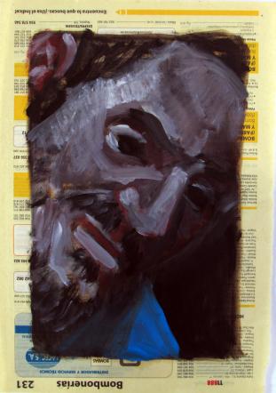 Amigos imaginarios V. Óleo sobre papel, 27x18 cm