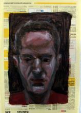 Amigos imaginarios II. Óleo sobre papel, 27x18 cm