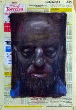 Amigos imaginarios III. Óleo sobre papel, 27x18 cm