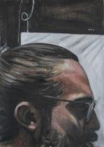 Quim, estudio II. Óleo sobre papel, 23x31 cm (Detalle)